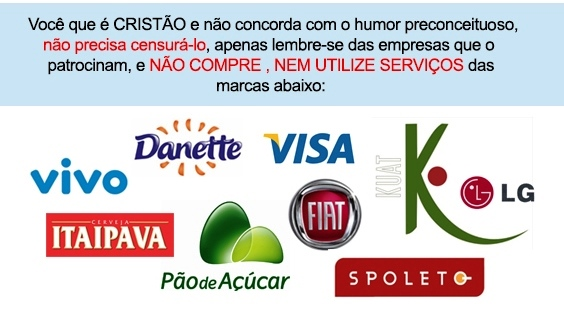 Marcas que financiam atores do Porta dos Fundos.